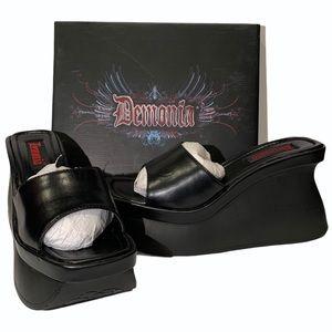 Demonia 4 1/2 Inch Goth Punk Wedge Platform Sandal